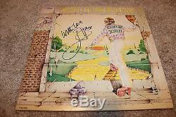 Elton John hand signed Goodbye Yellow Brick Road vinyl record! Perfect