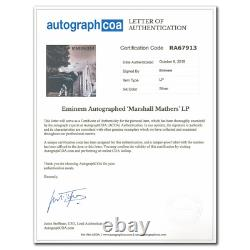 Eminem Signed THE MARSHALL MATHERS LP Autographed Vinyl Album LP ACOA COA