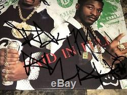 Eric B. & Rakim Stevie Blass Signed Autographed Paid In Full Vinyl LP Record Rap