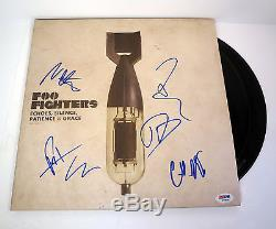 Foo Fighters Signed Echoes Silence Patience Grace Vinyl Record Album Psa/dna Coa