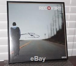 Framed Eminem Signed Autographed Recovery Vinyl LP Record