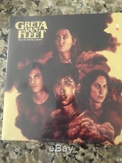 GRETA VAN FLEET SIGNED AUTOGRAPH BLACK SMOKE RISING VINYL ALBUM With Concert Tix