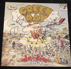 Green Day Signed Dookie Vinyl Album FULL BAND Autograph RARE Billie Tre Mike