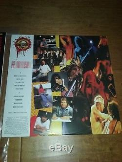 Guns N Roses 5X Signed Autographed, 2 Vinyl Record Album COA Rose Slash Dizzy