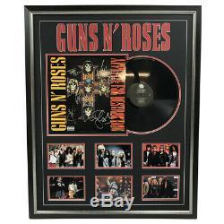 Guns N Roses Hand Signed Framed Vinyl Album Record Slash Axl Rose Adler