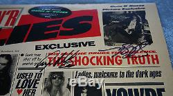 Guns N Roses Signed Lies 1988 Aussie First Press LP Vinyl Record OOP Slash Adler