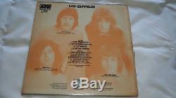 Hand Signed Led Zeppelin Debut 1969 Vinyl LP Record x 4 Inc Bonham with COA