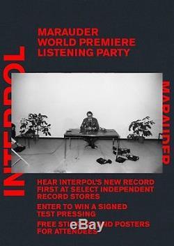 Interpol Marauder SIGNED TEST PRESSING LP Vinyl Record 1 of 5 Rare Limited