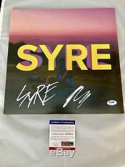 Jaden Smith Hand Signed Vinyl Record SYRE Hip Hop Rapper PSA DNA CERT