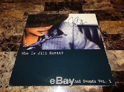 Jill Scott Rare Signed Limited Edition Vinyl 2 LP Record Who Is Jill Scott Promo