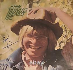 John Denver Autographed Greatest Hits Vinyl Record (JSA)