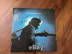 Johnny Cash Signed Lp Vinyl Record