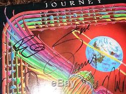 Journey Rare Authentic FULL Band Signed Vinyl LP Record Steve Perry Neal Schon +