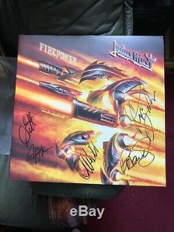 Judas Priest-FIREPOWER fully AUTOGRAPHED Vinyl