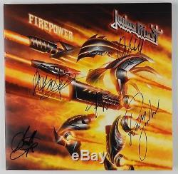 Judas Priest Firepower Signed Autograph Record Pledge Album PSA Swirl Vinyl #2