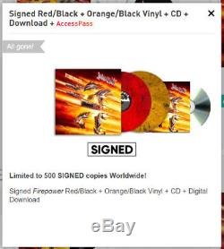 Judas Priest SIGNED Vinyl Firepower Pre-Order SOLD OUT 2017 Rare PROOF