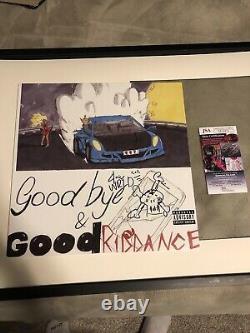 Juice Wrld Signed Goodbye & Good Riddance Vinyl JSA COA with Rare Sketch