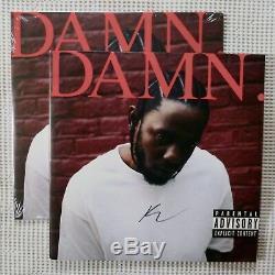 KENDRICK LAMAR Damn MINT SEALED SIGNED Ltd Red Vinyl 2LP AFTERMATH Hip Hop 180g