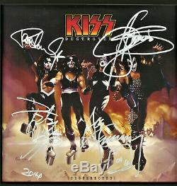KISS Destroyer Reissue Vinyl Record SIGNED Ace, Gene, Paul and Peter
