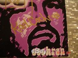 KISS Eric Singer Project ESP LP Green Vinyl Autographed Pressing Ace Frehley