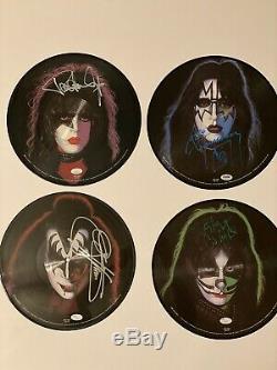 KISS Rare Set Of Signed autographed Solo Picture Disc Lp Vinyl PSA/JSA COA