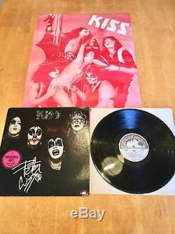 KISS Self Promo/promotional White Label Record/LP/Vinyl Signed With Poster