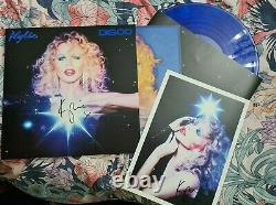 KYLIE MINOGUE DISCO Signed BLUE VINYL LIMITED EDITION LP WITH SIGNED PRINT
