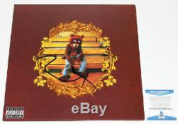 Kanye West Signed The College Dropout Vinyl Record Album Lp Beckett Coa Proof