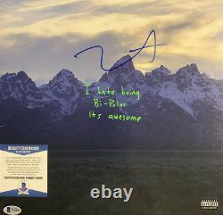 Kanye West Signed Vinyl Beckett COA Ye Album Record Lp Rapper Yeezus Bas