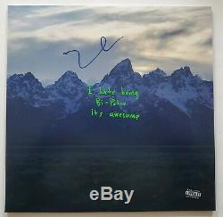 Kanye West Signed YE Vinyl Record Hip Hop Rap Yeezus Kids See Ghosts LEGEND RAD