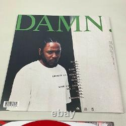 Kendrick Lamar Damn. Autographed Limited Red Opaque Vinyl LP Record Signed