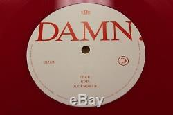 Kendrick Lamar Damn. Rare / Limited Edition Red Vinyl Autographed
