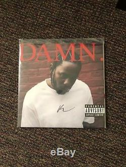 Kendrick lamar vinyl autographed signed damn Red Limited Rare