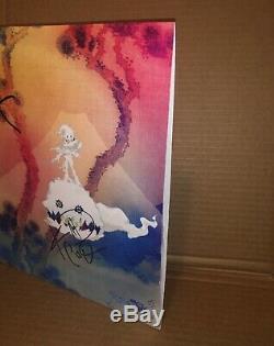 Kids See Ghosts Autographed Kanye West & Kid Cudi Vinyl Record LP Yeezus PROOF