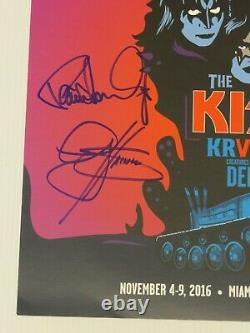 Kiss Kruise VI Autographed Red Colored Vinyl Creatures Of The Night