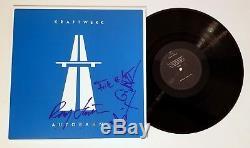 Kraftwerk band REAL hand SIGNED Autobahn vinyl LP COA autographed all 4 Ralf +3