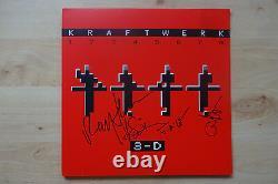 Kraftwerk full signed LP-Cover 3-D Vinyl