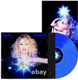 Kylie Disco Blue Vinyl signed Plus Signed Print Rare