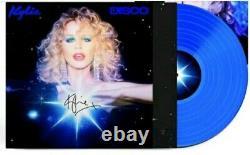 Kylie Minogue Disco Blue Vinyl Signed Sleeve Rare