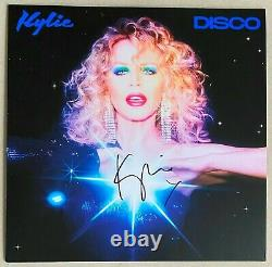 Kylie Minogue Disco Limited Signed Blue Vinyl Bn&m Say Something Magic