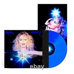 Kylie Minogue Disco Signed Blue Vinyl + Signed Print Worldwide Shipping