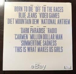 LANA DEL REY Signed Born To Die LP Album Autograph Vinyl JSA COA T89369 NICE