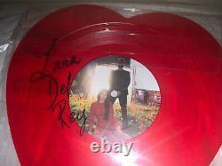 Lana Del Rey Lust For Life Heart Picture Disk Vinyl RARE Autographed Signed