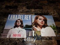 Lana Del Rey Rare Authentic Hand Signed Vinyl LP Record Born To Die + Photo COA