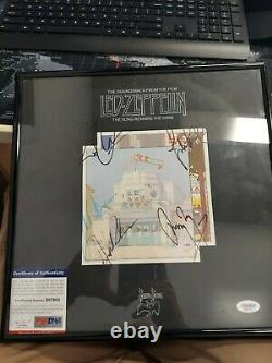 Led Zeppelin 4 Signed Autographed Vinyl Album Jimmy Page Robert Plant +all 4 PSA