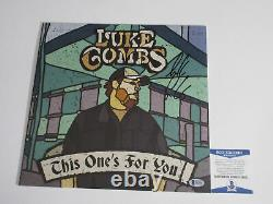 Luke Combs Signed This One's For You Vinyl Lp Record Beckett Bas Coa E82405