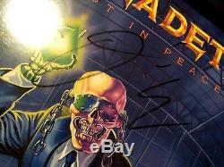 MEGADETH Rust In Peace FULLY SIGNED 1st press vinyl 1990 COA