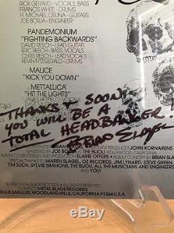 METAL MASSACRE 1st Pressing SEALED Vinyl Record Metallica Spelt Wrong Signed