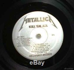 METALLICA Kill Em All RECORD LP VINYL 80's AUTOGRAPHED HAND SIGNED Megaforce