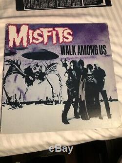 MISFITS Walk Among Us Vinyl. Signed By Danzig. JRR804 Second Press 1982 Rare